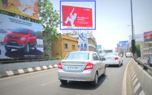 Hoarding ads in Panjagutta   Hyderabad hoardings