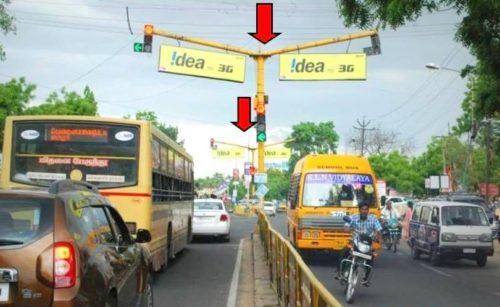 Trafficsignboards Aavinmilkroad Advertising in Madurai – MeraHoarding