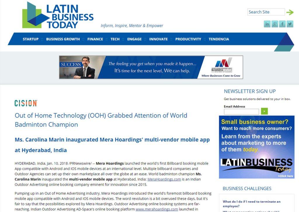 LATIN BUSINESS NEWS MERAHOARDINGS