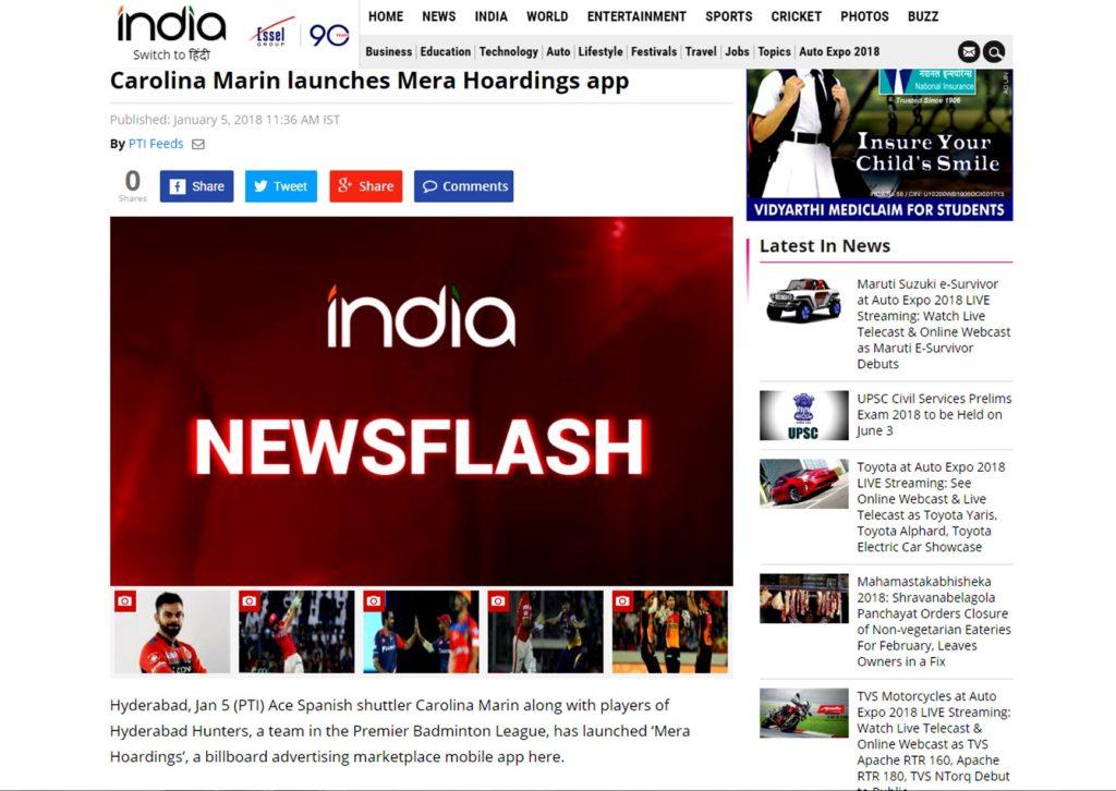 india flash news mera hoardings