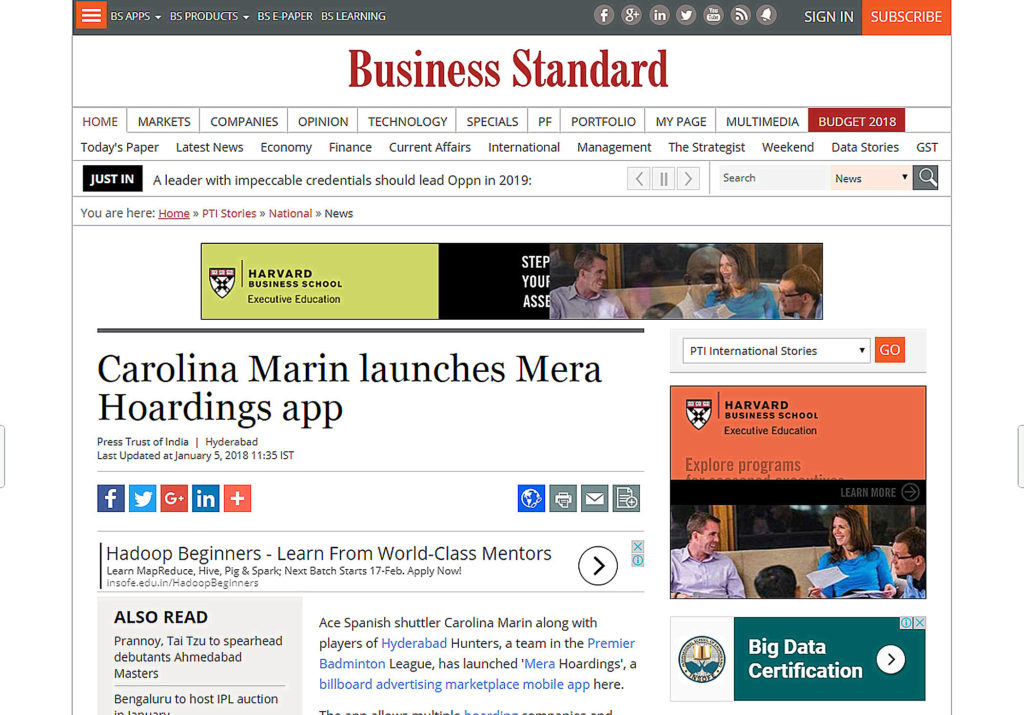 Carolina marin mera hoardings news