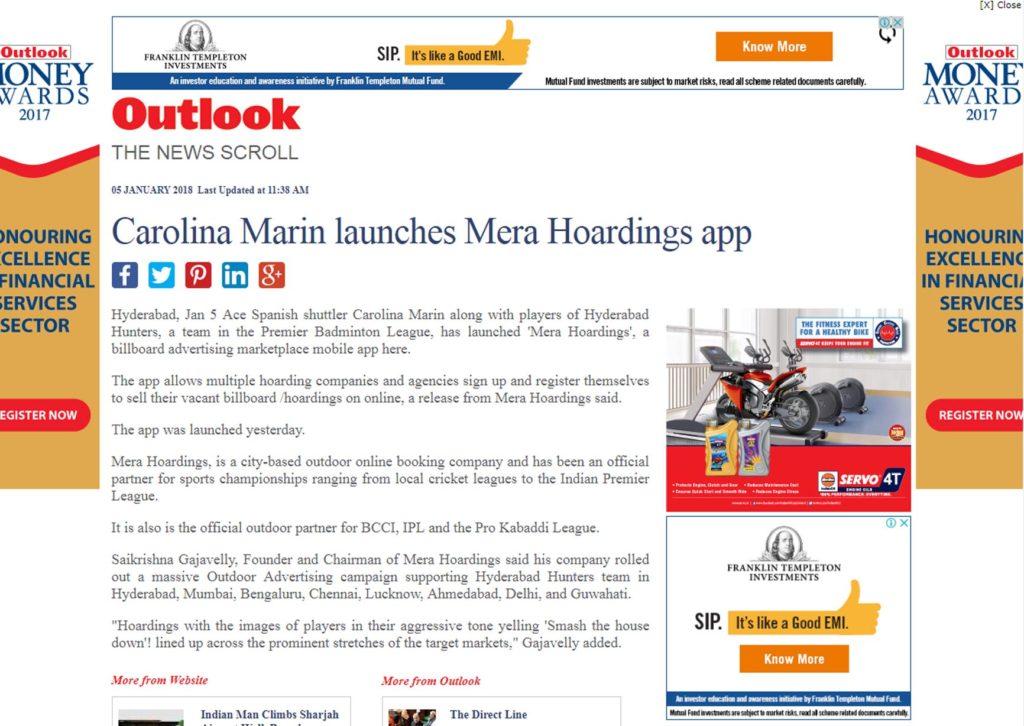 outlook india mera hoardings
