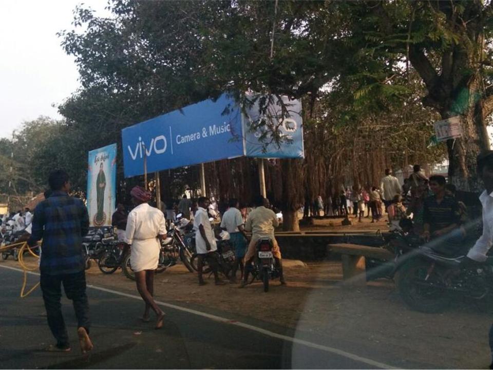 Billboard in Vadavalam Road   Hoarding advertising agency in Pudukottai