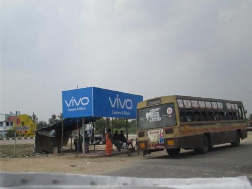 Hoarding Advertisement in Railway Gate | Bus Shelter in Pudukottai